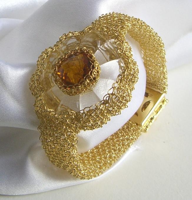 Brazalete tejido en Oro 14 K